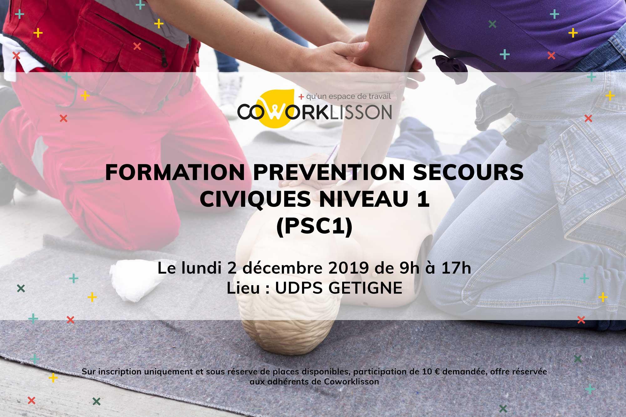 Formation Prévention secours civiques Niveau 1
